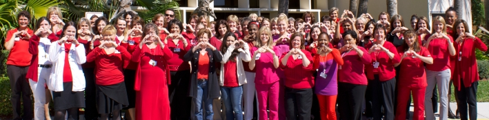 Staff at Jupiter Medical Center proudly wearing red in support of February Heart Awareness Month! (Click image for full size photo)